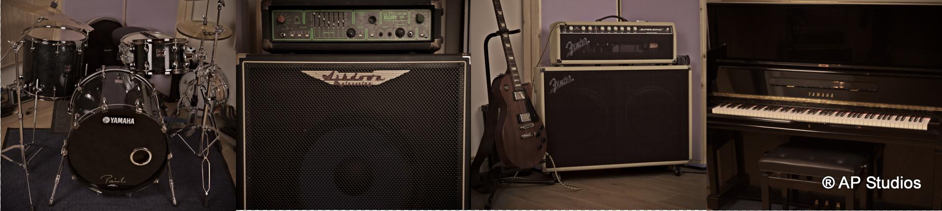 AP Recording Studios Dublin Instruments