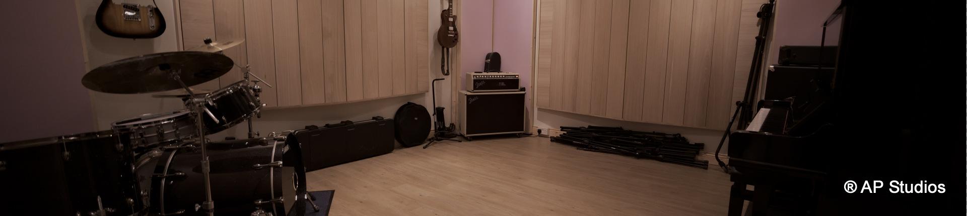AP Recording Studios Dublin Live Room Front View