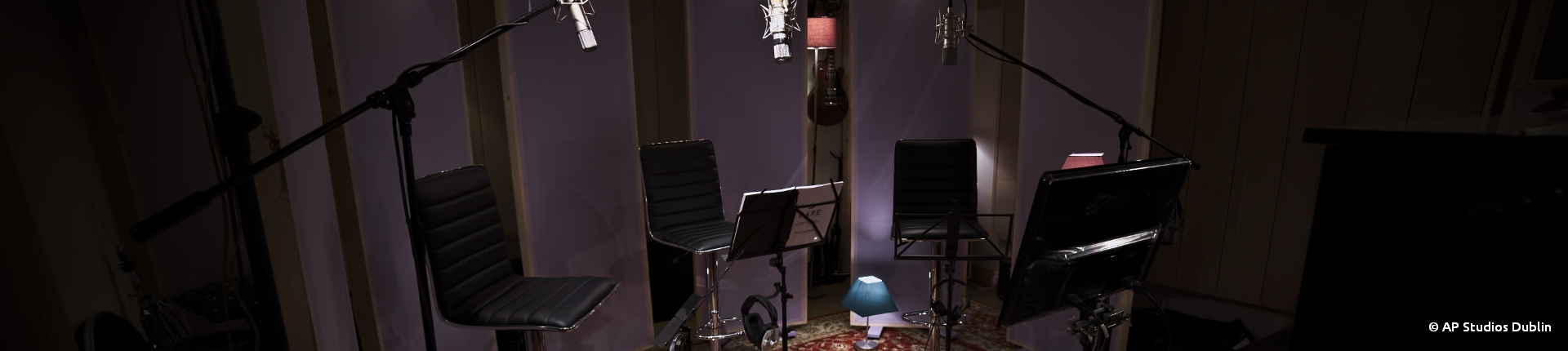 AP Recording Studios Dublin Voice Over/Dubbing Recording Set up