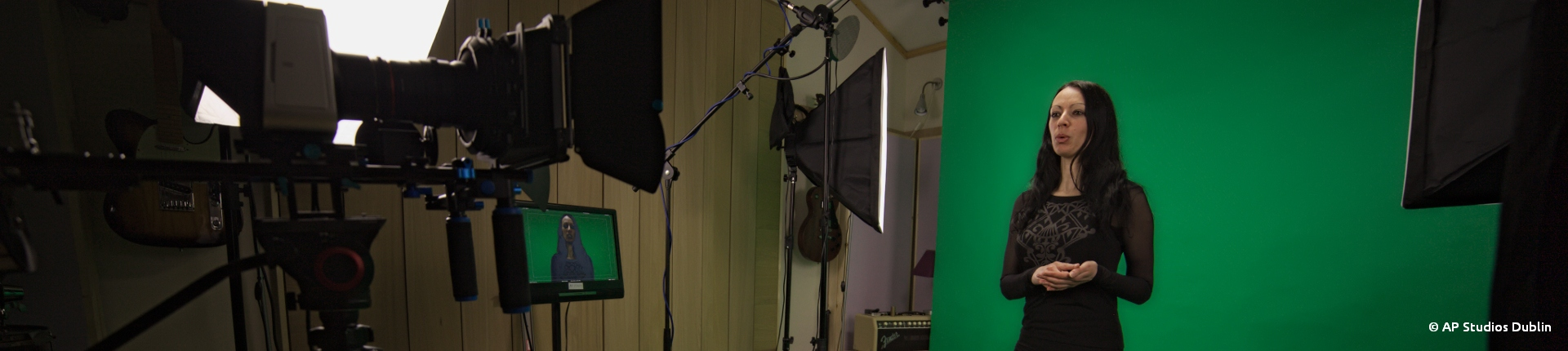 AP Recording Studios Green Screen Chroma Key 4k Raw Video
