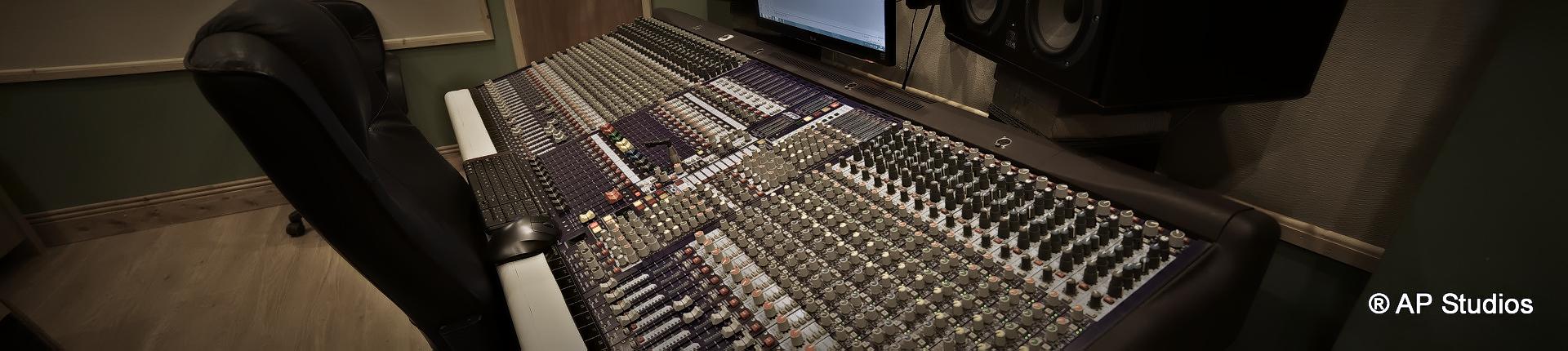 AP Recording Studios Dublin Midas Heritage 1000 Desk side view