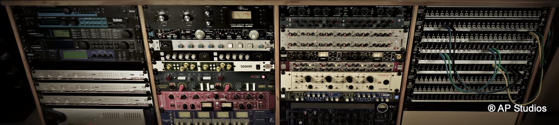 AP Recording Studios Dublin outboard rack